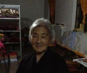 ...看到过她,一个老太太,总是演说上海话的老阿婆