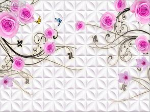 3D玫瑰花藤图片设计素材 高清psd模板下载 97.14MB 欧式电视背景墙...