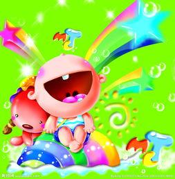 开怀大笑的卡通儿童 卡通小孩图片