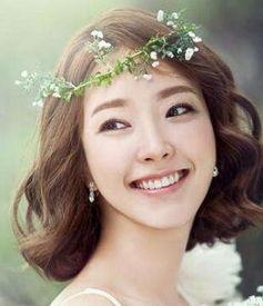 中式短发新娘发型图片