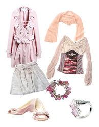 与粉红色联系在一起,年轻女孩们喜欢用粉红色装点自己,扮成可爱的...