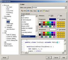 图15. 设置代码格式-亦步亦趋带您用JBuilderX开发WEB应用程序