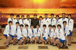 ...恩携李雪主看望朝鲜亚运代表团
