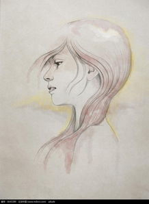 红色头发女性素描画图片免费下载 编号6640289 红动网