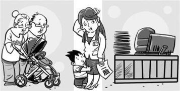 2015工口动漫网-本版漫画 赵春青-一线女职工再生育意愿不足五成 生养成本高等成主因