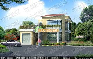 二层新农村别墅 两层带阳台小洋楼全套设计图纸商品编号:...