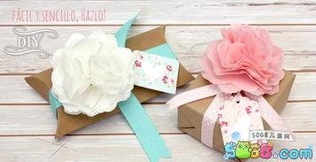 礼物盒上的装饰花怎么折 折纸花大全图解