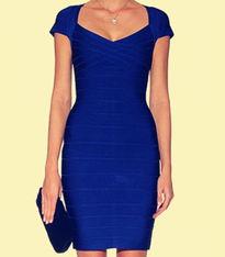...3新款时尚修身绷带裙包臀连衣裙短 连身裙礼服3色