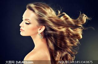 美女侧面长发