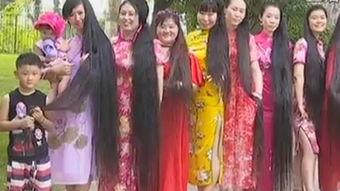 3米长的头发你见过吗?22位旗袍女济南大明湖畔秀长发-天猫家装e站...