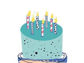卡通生日蛋糕图案图片素材 psd模板下载 6.37MB 其他大全 其他