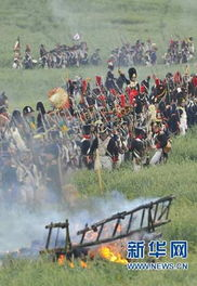 欧洲历史爱好者重现 滑铁卢战役