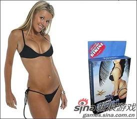 沾水就会透明的泳衣-女玩家必备海滩装 游戏版性感比基尼