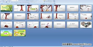 幼儿园多媒体故事 小孩与树PPT课件