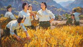朝鲜油画人物作品欣赏