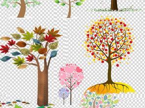 35创意手绘卡通树木png图片下载png素材 树叶