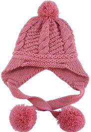 宝宝冬天帽子 中性童帽 女童 男童护耳冬帽 毛线帽