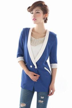 ...EEN纱料雪纺半袖西服 新款夏季小西装 薄麻纱女装韩版潮流