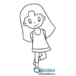 女孩简笔画人物图片,小女孩简笔画图片大全,人物简笔画素材,可爱...