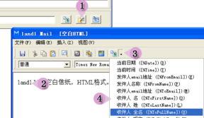 3、在网页HTML邮件中插入宏-如何插入宏 1and1 Mail 双翼邮件群发软...