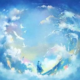 如 你的名字 般的唯美插画,梦幻又极具童话色彩