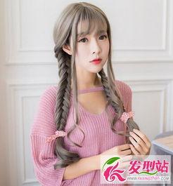森女系女生长发扎发 女生长发发型绑扎方法