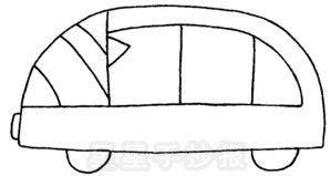 面包车简笔画图片教程