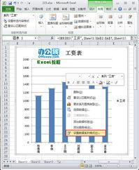 如何在Excel2010中用图片填充系列