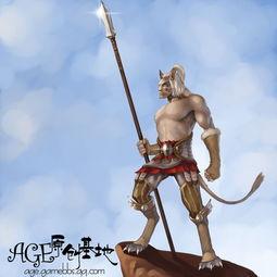上古世纪男兽灵手绘画 致敬部落的守望者