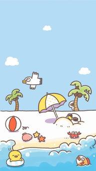 可爱 简单 插画 萌物 手机壁纸