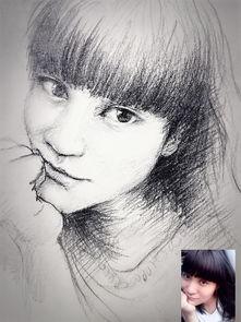素描画-素描女生