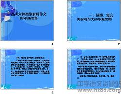高考六种类型材料作文的审题思路ppt