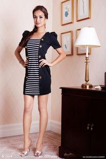 美女服装模特图片