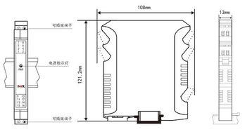 隔流界-技术参数   输入   输入信号   接线图   结构外型图