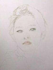 ...得好更不容易 一步步教你画彩铅美女人物肖像