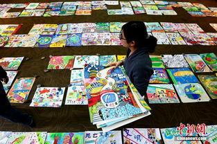 北京儿童画 地铁海报 倡绿色出行
