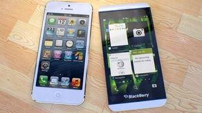 比比谁性感 iPhone 5与双色黑莓Z10美图