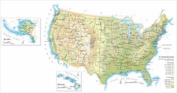美利坚合众国欧美色图-美国地图,美国高清版大地图
