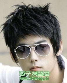 男生斜刘海发型图片