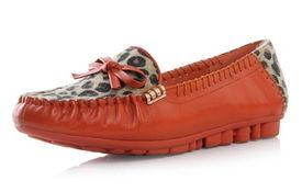 3春季新款性感豹纹色拼接甜美蝴蝶结平跟女士单鞋,鞋面才用优质的...