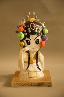 雕塑京剧泥偶