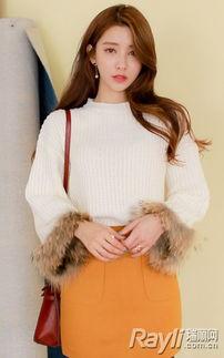 婷婷桃色网-白色针织衫搭配黄色半身裹臀裙和黑色打底袜-素色里的一点亮色 让你...