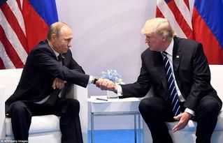 握手被拒动态图-特朗普与普京首次正式会晤握手交谈