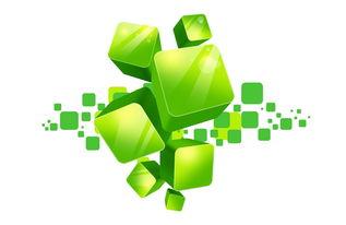 绿色立体方块元素 14790086 漂浮素材