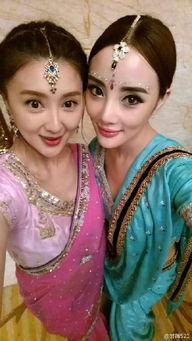 娘和亲家公嗯嗯 呀呀-甘薇庆生 与李小璐秦岚刘芸变身印度美娇娘