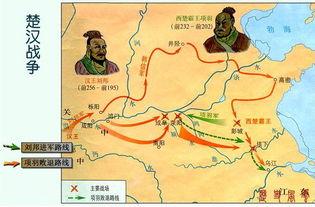 谁有楚汉争霸时期的地图 划分楚河汉界后的,项羽刘邦的势力图.越详...