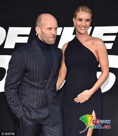 杰森·斯坦森(Jason Statham)与怀孕女友罗茜.-速8 纽约首映斯坦...