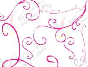 简洁线条花纹头纱笔刷 ps学习区