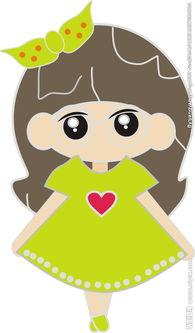 卡通小女孩图片
