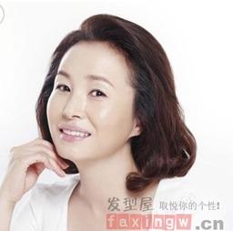 40岁胖女人发型图片